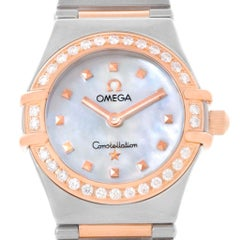 Omega Constellation My Choice Mini Mother of Pearl Diamond Dial Watch 1368.71.00