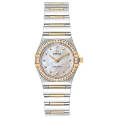 Omega Constellation My Choice Steel Yellow Gold Diamond Watch 1376.71.00