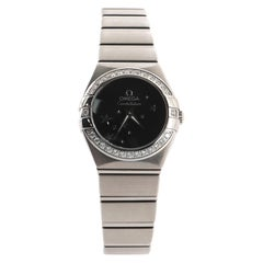 Omega Constellation Orbis Star Quartz Watch Stainless Steel with Diamond Bezel 2