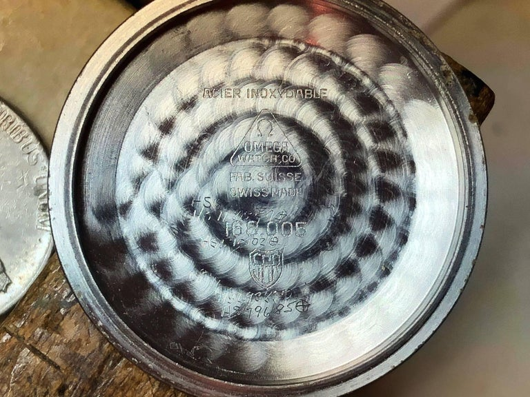 Omega Constellation Pie Pan with Boxes and Price Tag, circa 1966 For Sale 2