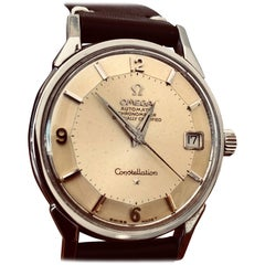 Omega Constellation Pie Pan with Boxes and Price Tag, circa 1966