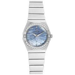 Omega Constellation Quartz 24 Mother of Pearl Diamond Watch 123.15.24.60.57.001