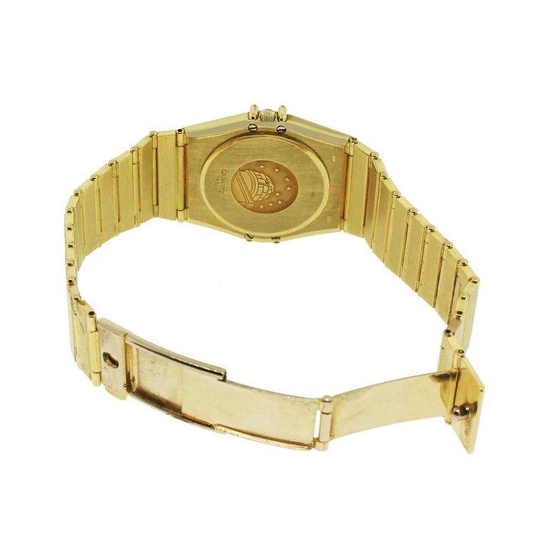 Round Cut Omega Constellation Quartz Watch