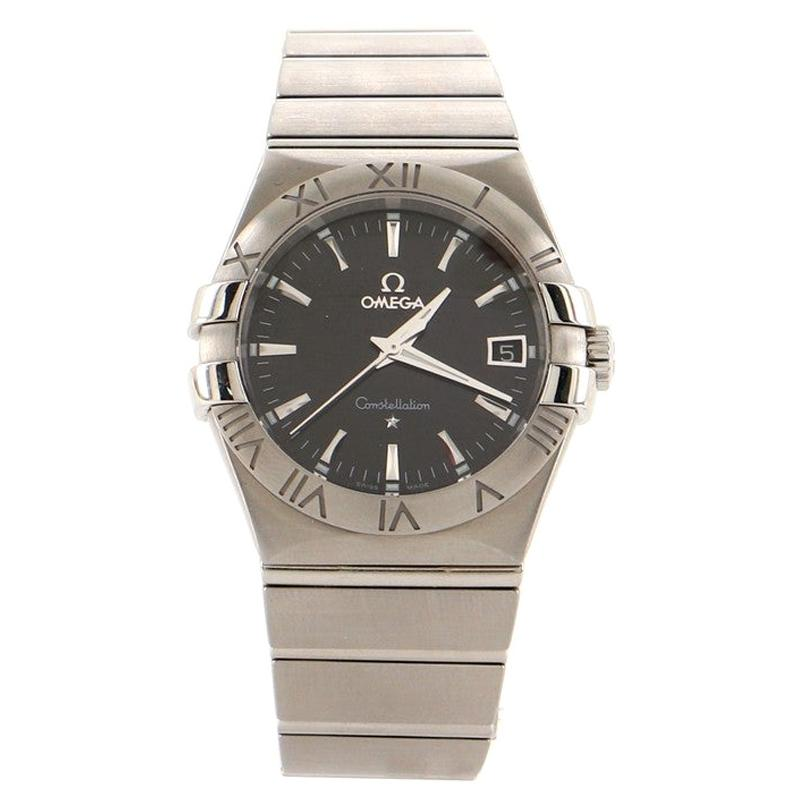 Omega Constellation Quartz Watch Stainless Steel 35