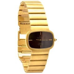 Omega Constellation Rare 18 Karat Yellow Gold Retro Watch