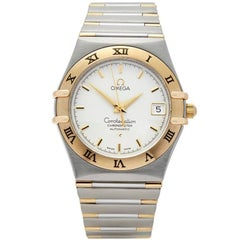 Omega Constellation Stainless Steel and 18 Karat Yellow Gold Men's