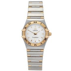 Omega Constellation Stainless Steel and 18 Karat Yellow Gold Women's 13627000