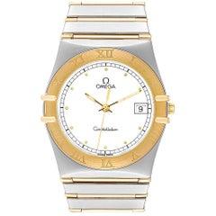 Omega Constellation Steel 18 Karat Yellow Gold Men's Watch 3961076