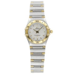 Omega Constellation Steel 18K Yellow Gold MOP Dial Quartz Ladies Watch 1362.30