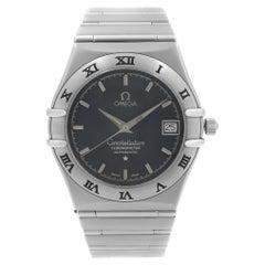 Omega Constellation Steel Date Dark Blue Dial Men Automatic Watch 3681201