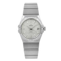 Omega Constellation Steel Diamond Silver Dial Ladies Watch 123.15.35.20.02.001