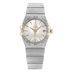 Omega Constellation Steel Gold Silver Automatic Unisex 123.20.35.20.02.003 New