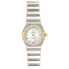 Omega Constellation Steel Yellow Gold Diamond Ladies 1367.75.00 Card