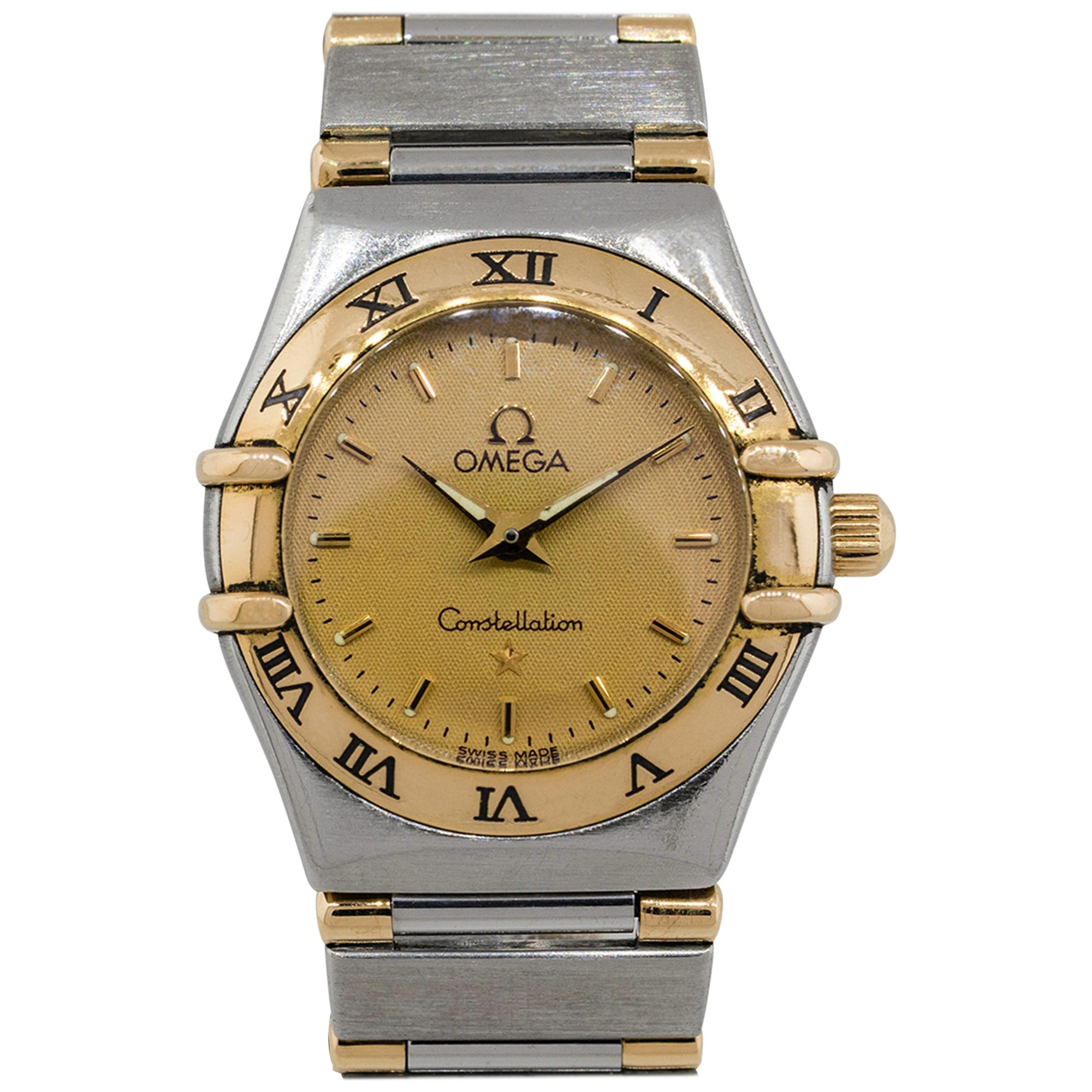 Omega Constellation Two-Tone Gold Dial Watch