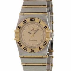Omega Constellation Unbekannt Armband, Gold Lünette und Champagner Zifferblatt