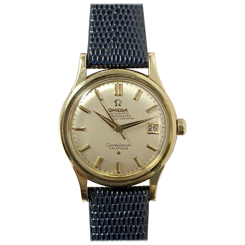 Omega Constellation Vintage Yellow Gold Automatic Calendar Wristwatch