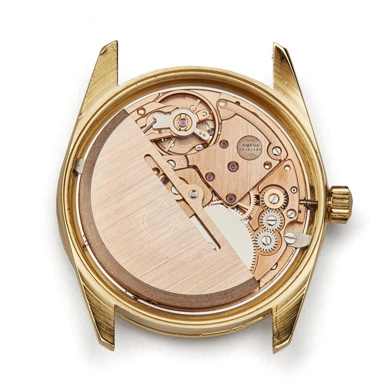 Omega De Ville Cal.1012 18 Karat Yellow Gold 1012 For Sale 5