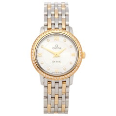 Omega De Ville Diamond Mother of Pearl Stainless Steel and Yellow Gold