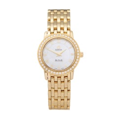 Omega De Ville Prestige Diamond 18 Karat Yellow Gold 41757100 Wristwatch