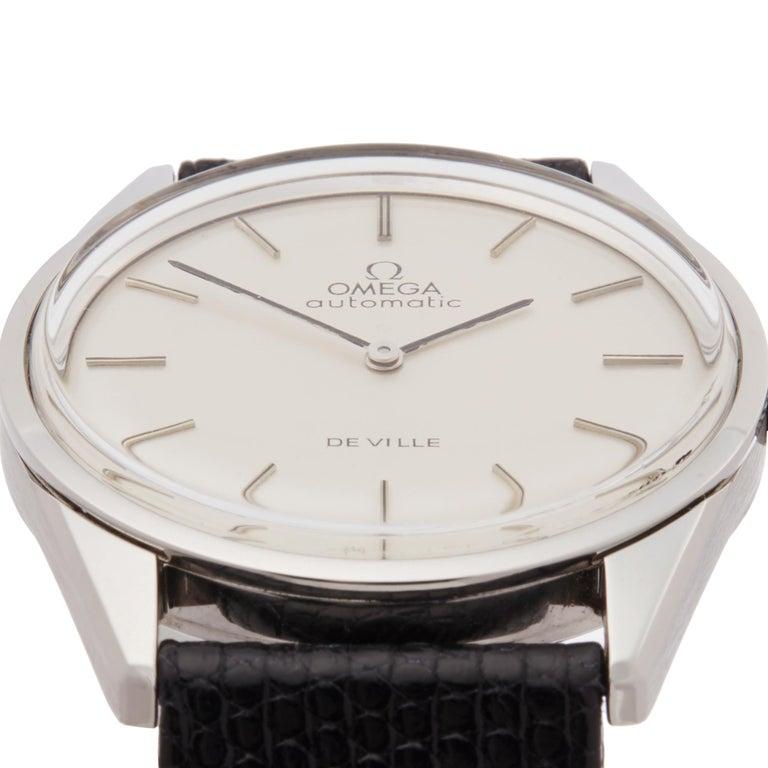 Omega De Ville Stainless Steel Wristwatch In Excellent Condition In Bishops Stortford, Hertfordshire