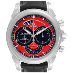 Omega DeVille Chronoscope Co-Axial Red Dial Chronograph Watch 4851.61.31