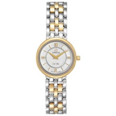 Omega DeVille Classic Steel Yellow Gold Ladies Watch 7374.31.00 Card