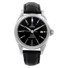 Omega DeVille Co-Axial GMT Steel Black Dial Automatic Men's Watch 4833.51.31