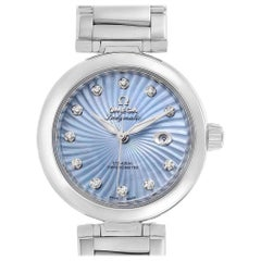 Omega DeVille Ladymatic Blue MOP Diamond Ladies Watch 425.30.34.20.57.002