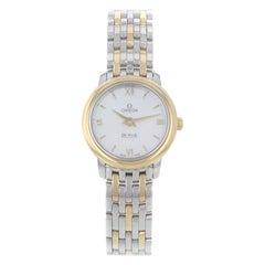 Omega DeVille Prestige 424.20.24.60.05.001 Steel and Gold Quartz Ladies Watch