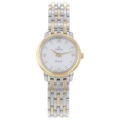 Omega DeVille Prestige MOP Steel Gold Ladies Quartz Watch 424.20.24.60.05.001