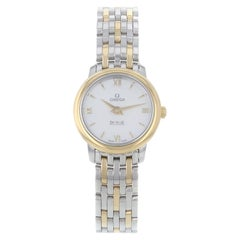 Omega DeVille Prestige Mother of Pearl Dial Steel Gold Watch 424.20.24.60.05.001