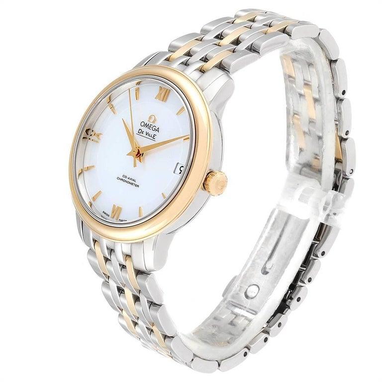 Omega DeVille Prestige Steel Yellow Gold Men's Watch 424.20.33.20.05.001 For Sale 1