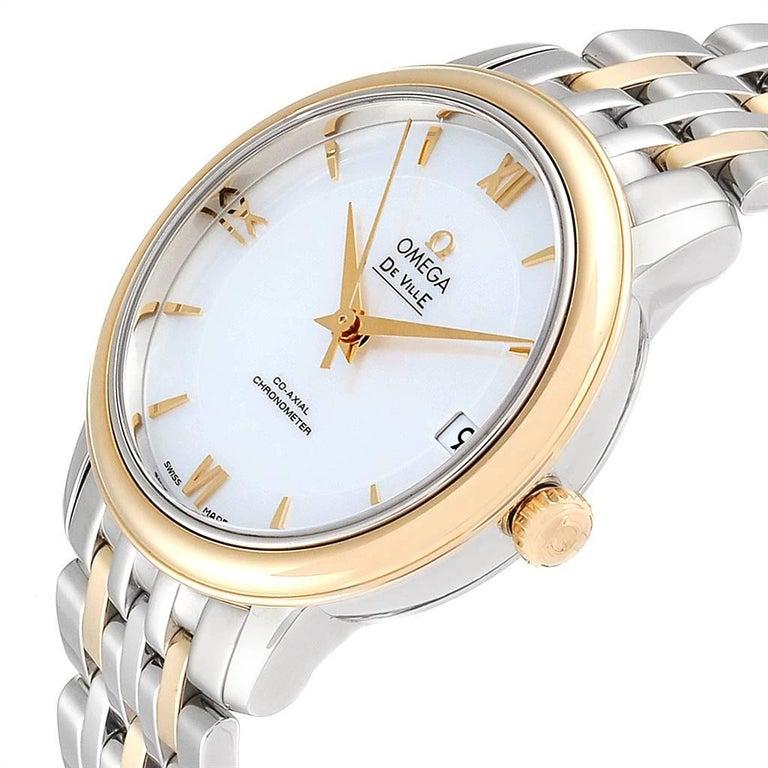 Omega DeVille Prestige Steel Yellow Gold Men's Watch 424.20.33.20.05.001 For Sale 2