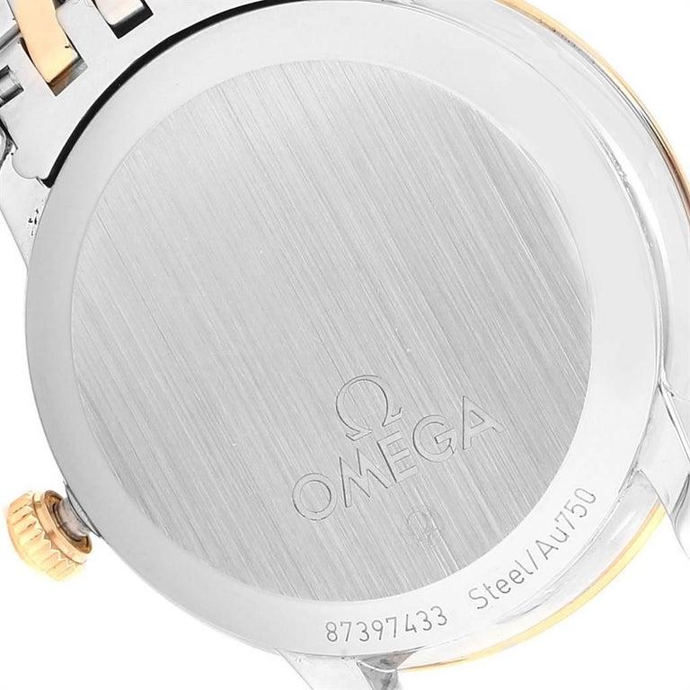 Omega DeVille Prestige Steel Yellow Gold Men's Watch 424.20.33.20.05.001 For Sale 3