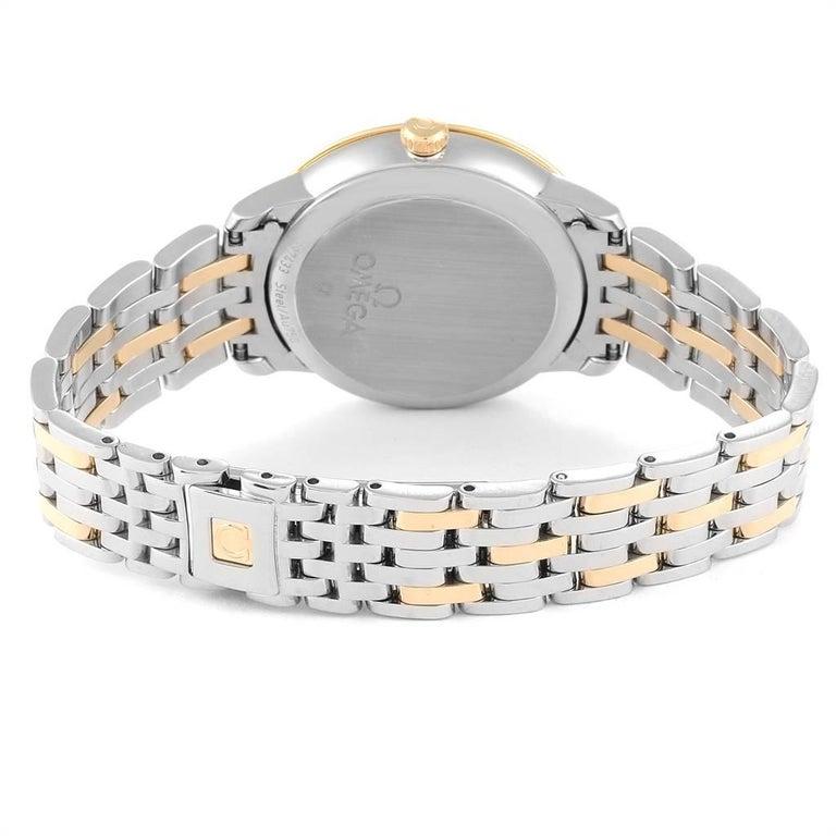 Omega DeVille Prestige Steel Yellow Gold Men's Watch 424.20.33.20.05.001 For Sale 4