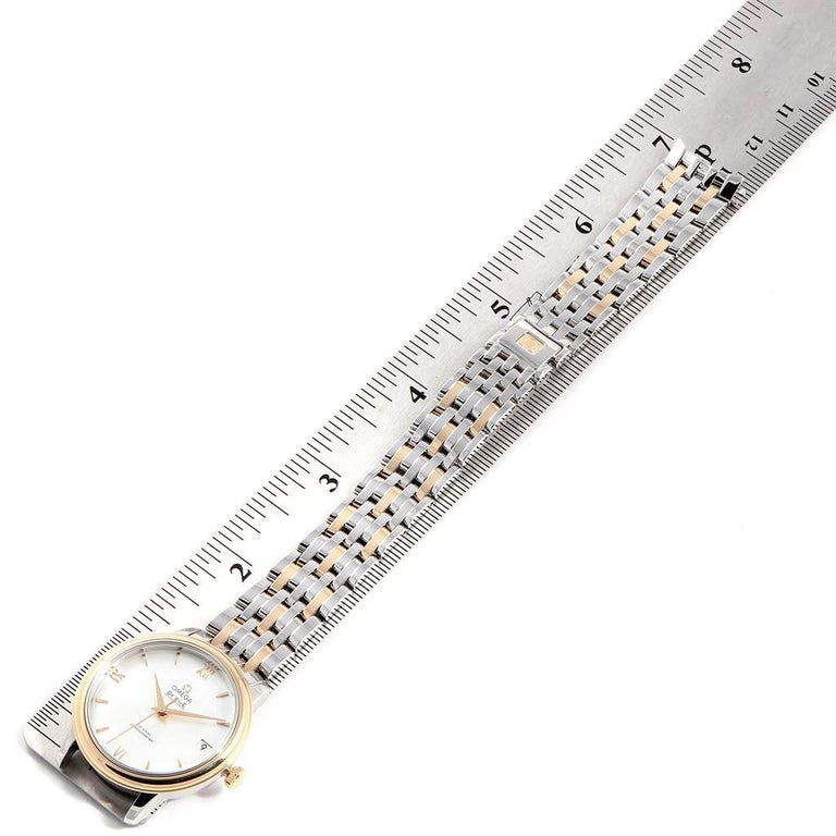 Omega DeVille Prestige Steel Yellow Gold Men's Watch 424.20.33.20.05.001 For Sale 5