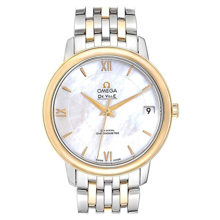 Omega DeVille Prestige Steel Yellow Gold Men's Watch 424.20.33.20.05.001 For Sale