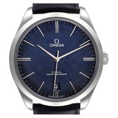 Omega DeVille Tresor Blue Dial Steel Mens Watch 435.13.40.21.03.001 Box Card