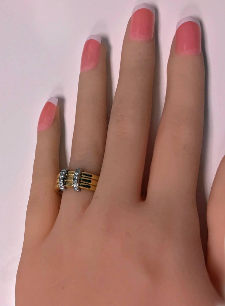 Omega  Diamond Gold Ring In Good Condition For Sale In Toronto, ON