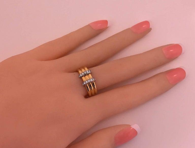 Women's or Men's Omega  Diamond Gold Ring For Sale