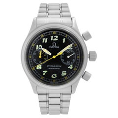 Omega Dynamic Steel Chronograph Black Dial Mens Automatic Watch 1750310