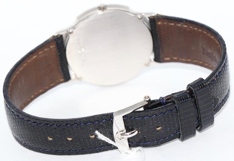 Modern Omega Flat Platinum Wristwatch For Sale