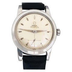 Omega for Tiffany & Co. 1950s Steel Cased Automatic Wristwatch