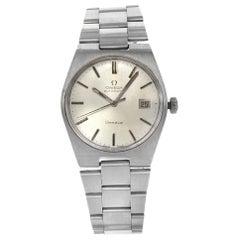 Omega Geneve Silver Sticks Tonneau Dial Steel Automatic Men's Watch 166.099