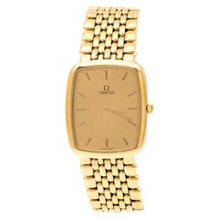 Omega Gold Plated Stainless Steel De Ville 395.0876.2 Men's Wristwatch 26 mm
