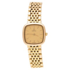 Omega Gold Plated Stainless Steel De Ville 795.0898.2 Women's Wristwatch 21 mm