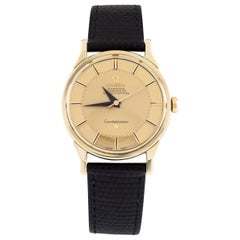 Omega Gold-Plated Vintage Constellation with Gold Pie Pan Dial 167005