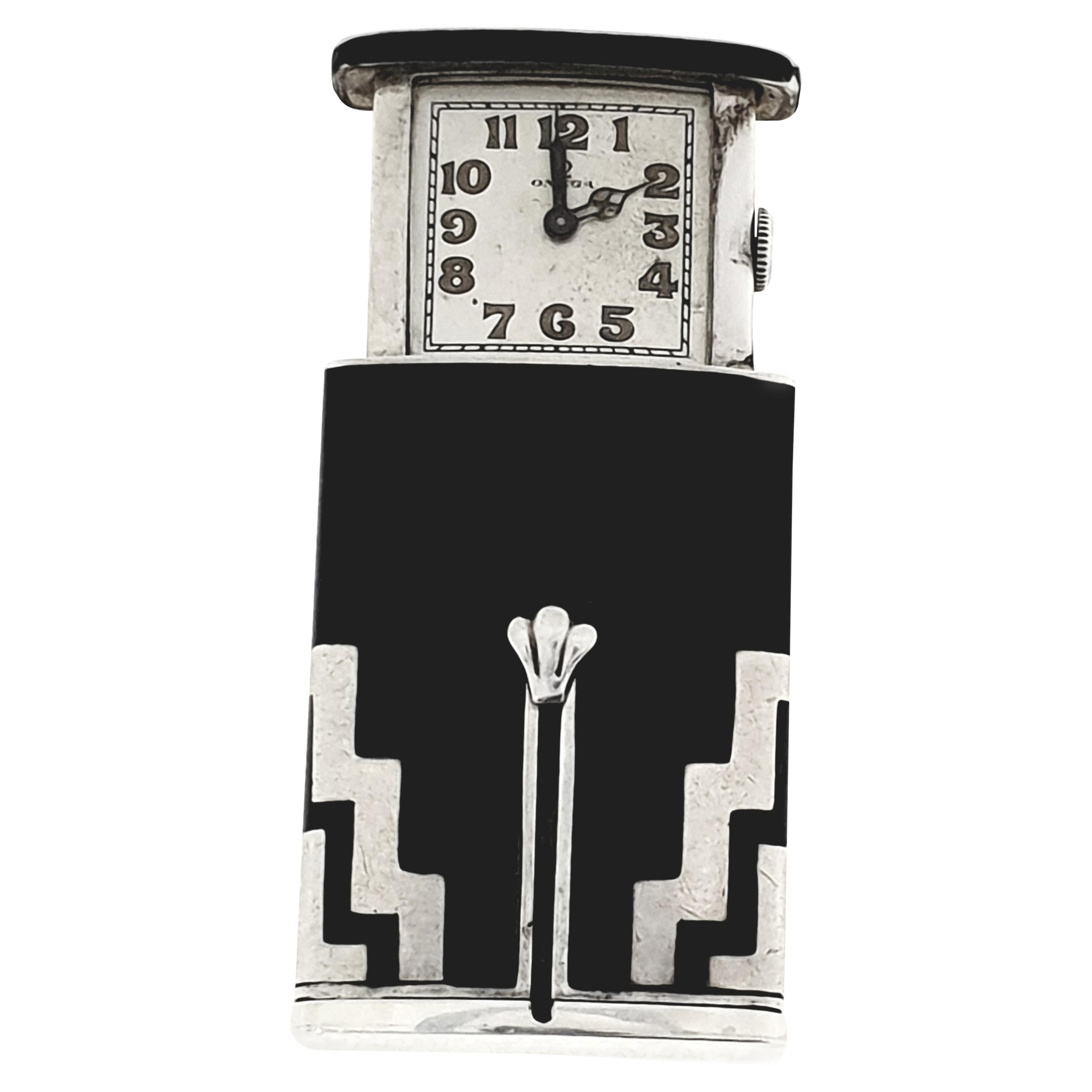 "Omega ""Golf"" Clock Purse Watch"