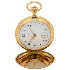 Omega Grand Prix Paris 1900 14 Karat Gold Manual Wind Pocket Watch