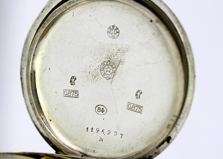 Omega, Gurzelen Silver Nielo Pocketwatch Russian Retailer, Switzerland, 1895 10
